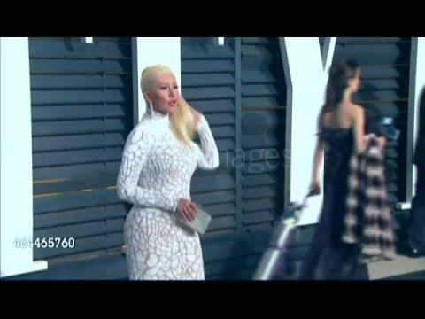Christina Aguilera - Vanity Fair Oscar Party 2015 - Red Carpet