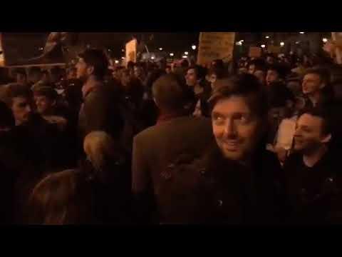 2017. 04. 12. CEU tüntetés és partymenet