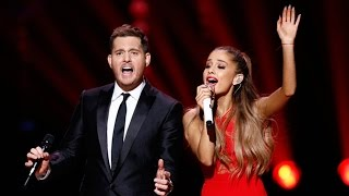 Michael Buble Video - Ariana Grande Sings Last Christmas' for Michael Buble's NBC Christmas Special
