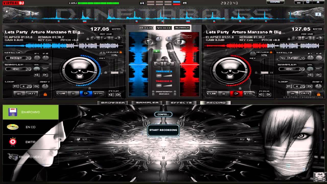Nuevo Skin Dark Elegant 3D para Virtual DJ 7 2013 - YouTube