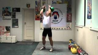 Left-right side Rack Position in Jerk - RGSI kettlebell workout 2011