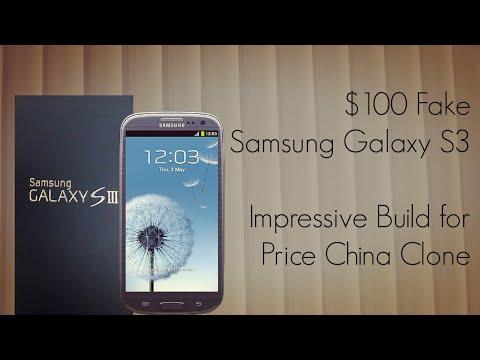 $100 Fake Samsung Galaxy S3 - Impressive Build for the Price China Clone