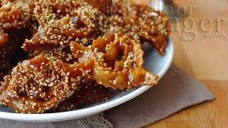 Download Recette de chebakia : gâteaux au miel   / Moroccan Sesame Cookies with Honey 3Gp Mp4