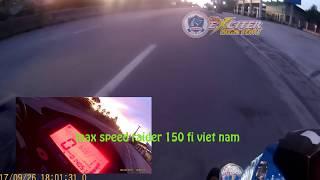 Max speed raider 150 fi Việt Nam Đạt Vận Tốc KINH HOÀNG