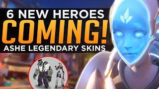 Overwatch: 6 NEW Heroes Coming! - Ashe Legendary Skins!