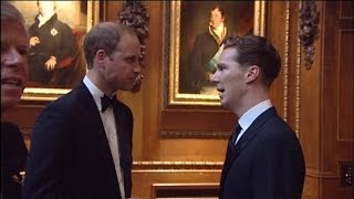 Benedict Cumberbatch, Kate Moss, Cara Delevigne and more celebs meet Prince William