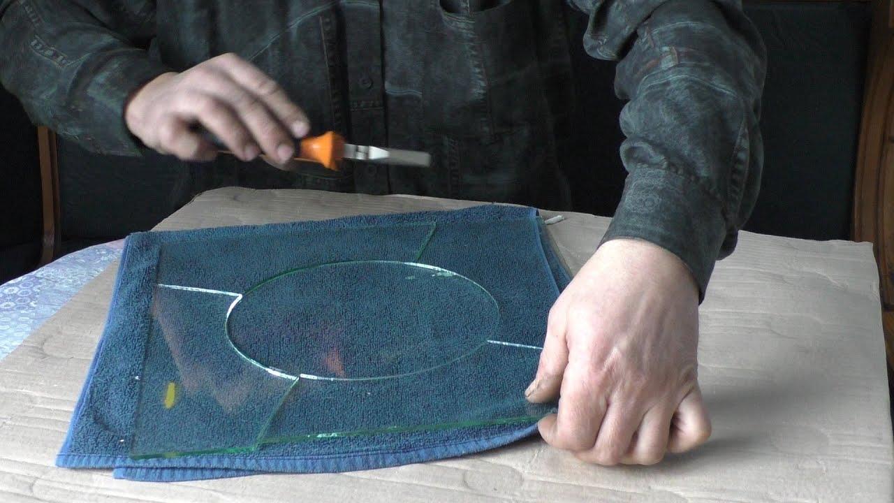 Как фигурно вырезать стекло в домашних условиях 79