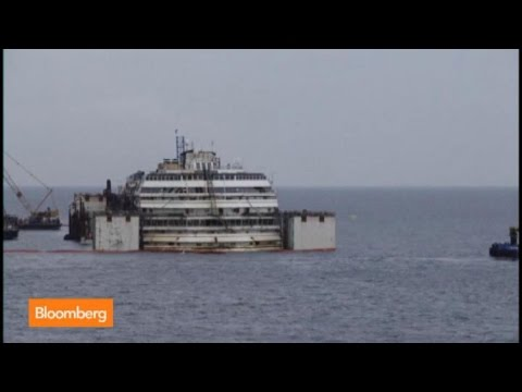 Time Lapse: Watch the Costa Concordia Float Again