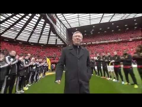 Guard of honour for Sir Alex Ferguson 2013 - Official Manchester United Website