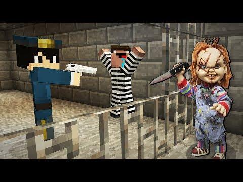 Кукла Чаки Сбежала из Тюрьмы Копа в Майнкрафт! Троллинг Преступника в Minecraft Сериал! Мультик