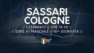 Serie A1M [16^]: Sassari - Cologne 34-25