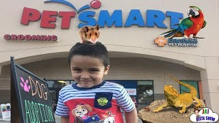 Family Fun Trip to PetSmart Animals for Kids Children and Toddlers | Jai Bista Show