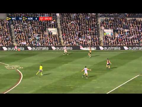West Coast Eagles vs Adelaide Crows Q1 Rnd 15 2015 AFL