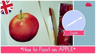 Watercolors for beginners free class: How to paint an apple
