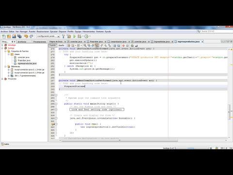 Insertar,Consultar,Modificar y Eliminar datos de una Tabla de MySQL desde Netbeans - Parte 3