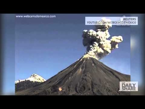 Fire Volcano Erupts in Mexico