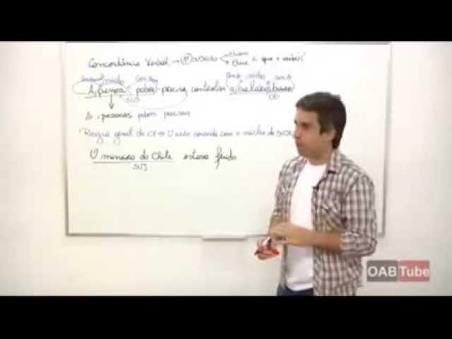 Português - Curso Completo de Concordância Verbal e Nominal - Parte 1