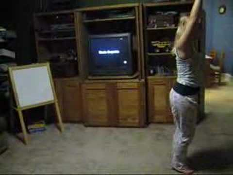 15 Year old Practicing Gymnastics in Living Room