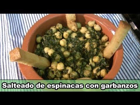 La cocina de Fela: Salteado de espinacas con garbanzos - YouTube