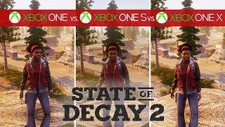State of Decay 2 Comparison - Xbox One vs. Xbox One S vs. Xbox One X