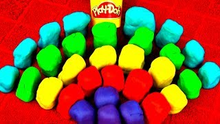30 Play Doh Surprise Eggs Disney Frozen Princess Peppa Pig Lego Cars Mario Barbie Spongebob FluffyJe