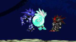 Mega Sonic Bros. AF Battles: Team Silver vs Team Mecha