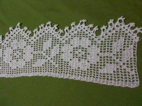 Caminos de mesa en crochet paso a paso