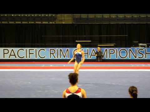 Lexie Priessman- Floor Exercise - 2012 Kellogg&#039;s Pacific Rim Championships Podium Training