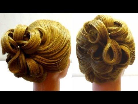 Вечерняя прическа. Прическа на корпоратив Hairstyle for corporate party