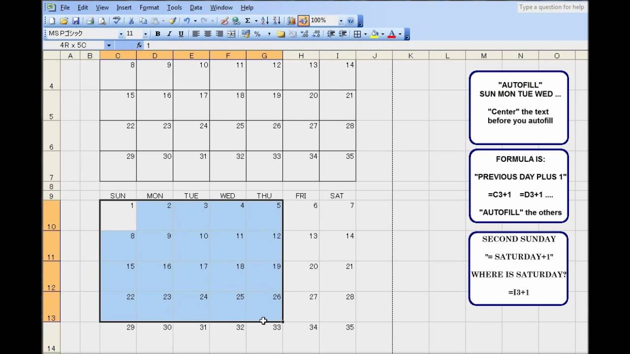 excel how to find the first monday of a month