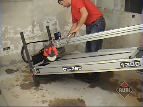 RUBI DS-250 Cortadora eléctrica para porcelanico gres marmol/ Electric Saw for porcelain marble