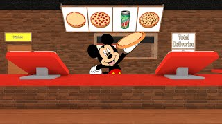 Mickey Mouse plays | ROBLOX Work at a Pizza Place