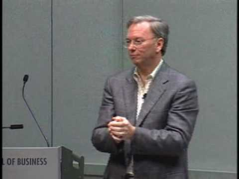 Eric Schmidt of Google: Change Creates Opportunity