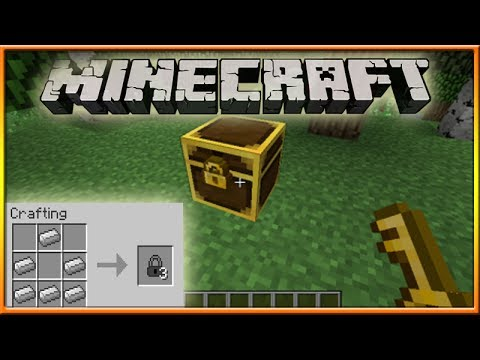 How to make a locked chest in minecraft
