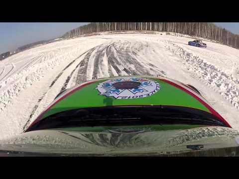 Mazda MX-5 на ледяной трассе в Екатеринбурге часть 2