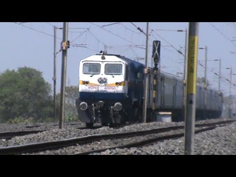 Shining new Dual-cab SGUJ WDP-4D NJP Shatabdi scorches the tracks at Dhaniakhali!!!