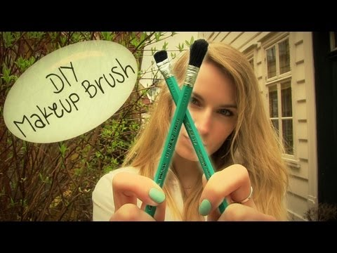DIY: Makeup Brush! How to Make a Makeup Brush.
