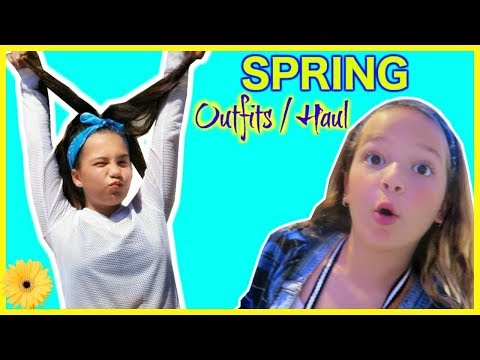 SHOPPING SPRING OUTFITS FOR SCHOOL PICTURE DAY/ TRY ON HAUL  👗🌼🏫 #140