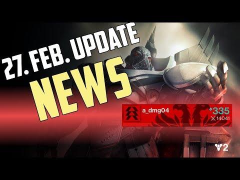 Destiny 2 : Das 27. Februar Update Details und News   alle infos Deutsch HD