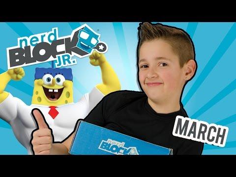 NERD BLOCK Jr. Boys MARCH Spongebob Unboxing Video Review Nerdblock Toys by PLP
