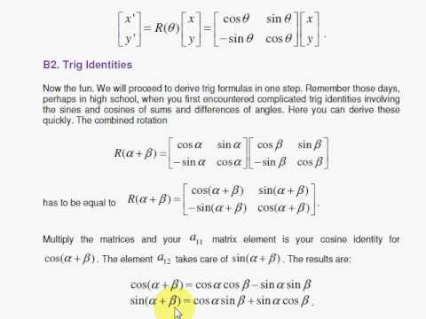Product Rotation Matrix Rotation Matrix And Trig