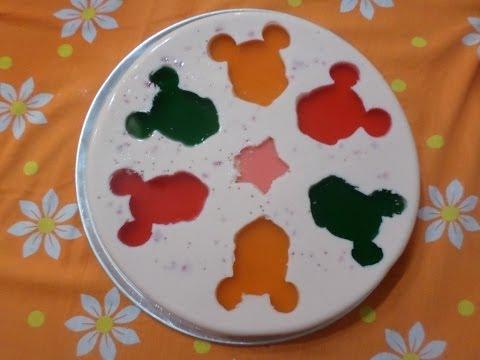 Gelatina Yoghurt con Queso y Figuras de Micky
