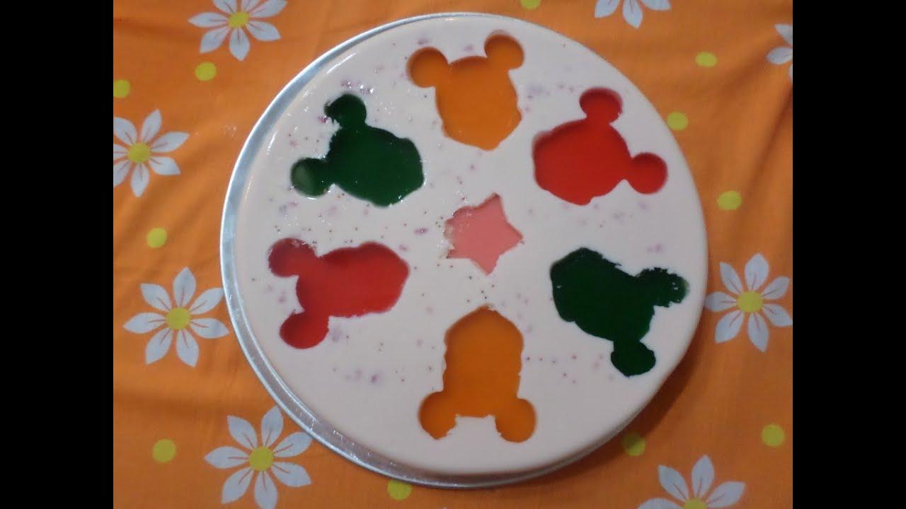 Gelatina yoghurt con queso y figuras de micky youtube - Como hacer figuras con chuches ...