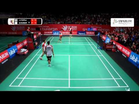 Lee Yong Dae/Fajar Alfian (Musica Champion) VS Mohammad Ahsan/Berry Angriawan (Djarum Kudus)