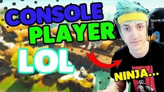 Ninja Makes Fun Of Console Players | Fortnite Daily Moments