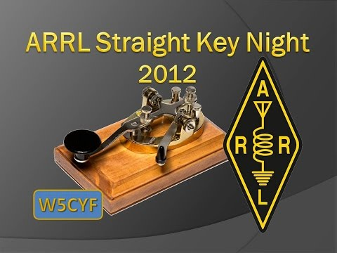 ARRL Straight Key Night 2012-W5CYF