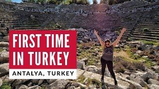 First Time In Turkey   Turkish Breakfast + Ancient Antalya   Digital Nomad World Travel Vlog 1