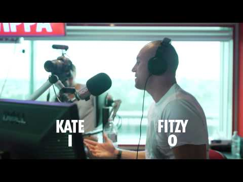 Kate Ritchie Gives Fitzy a Thrashing in Quick Draw Game