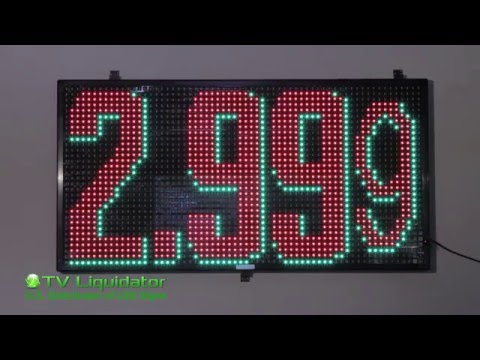 LED Gas Price Sign With Wireless Remote Keyboard