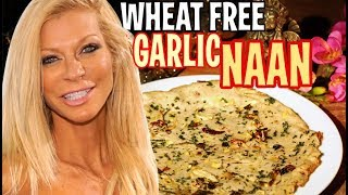 Garlic Naan recipe (RAW VEGAN) GLUTEN FREE, wheat free, by Cara Brotman